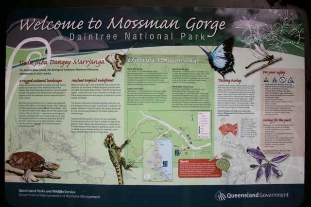Mossman Gorge sign