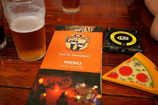 Rattle N Hum menu