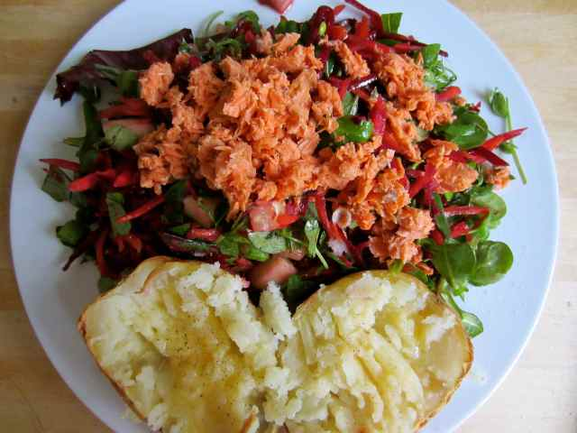 salmon and salad 1