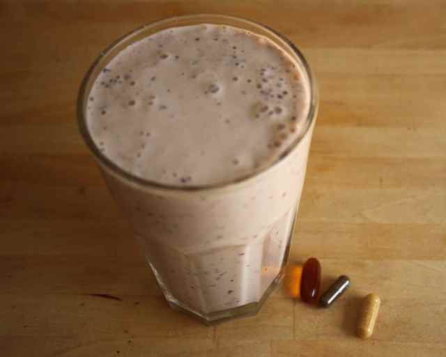 smoothie and suplements