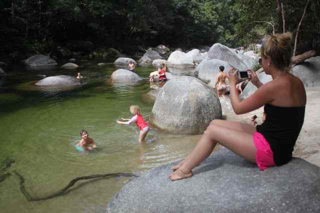 swimming in Mossman Gorge