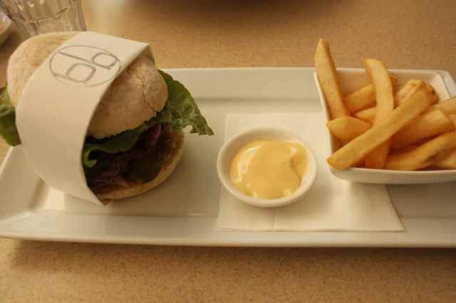 Wagyu burger and chips