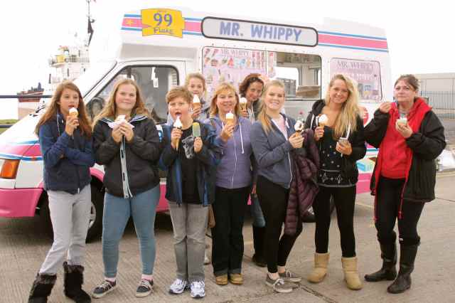 all of us at Mr Whippy