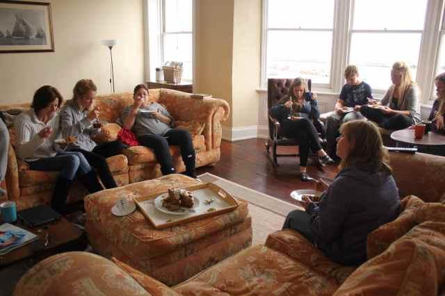 cake in sitting room