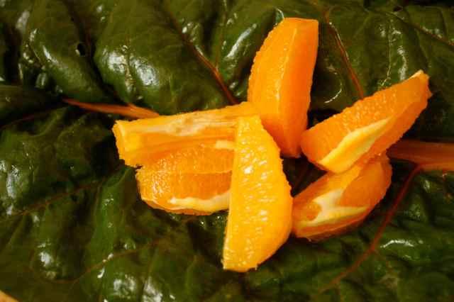 chard and orange