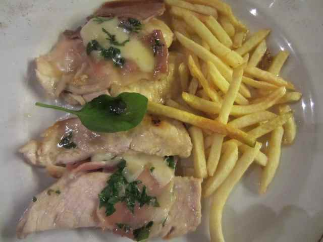 chicken escaloppe and fries