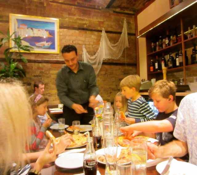 dinner at La Marinara