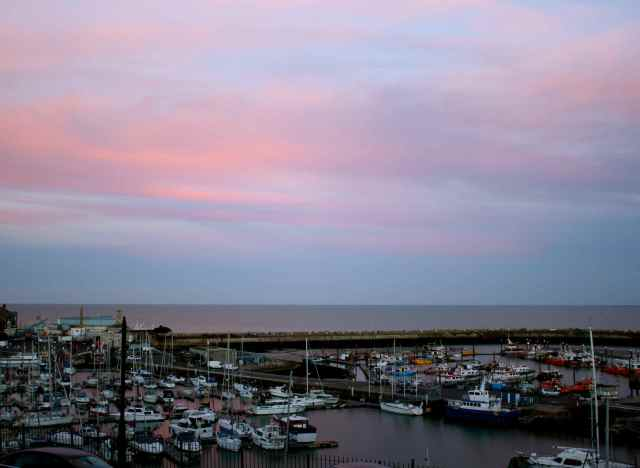 sunset in Ramsgate