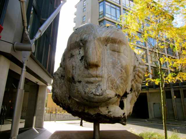 Another head statue