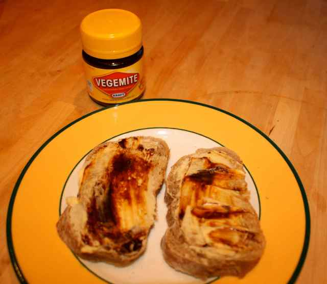 bread and Vegemite