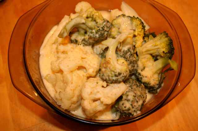 cauli and broc cheese