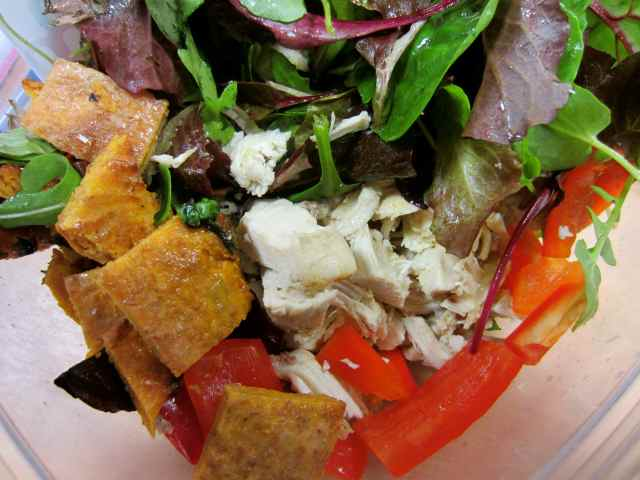chicken salad and sweet potato bread
