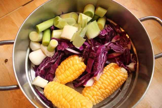 cleaned veggies