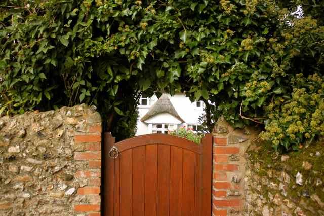 doorway to cottage