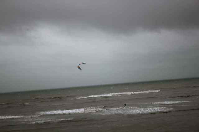 kite surfing at Lyme