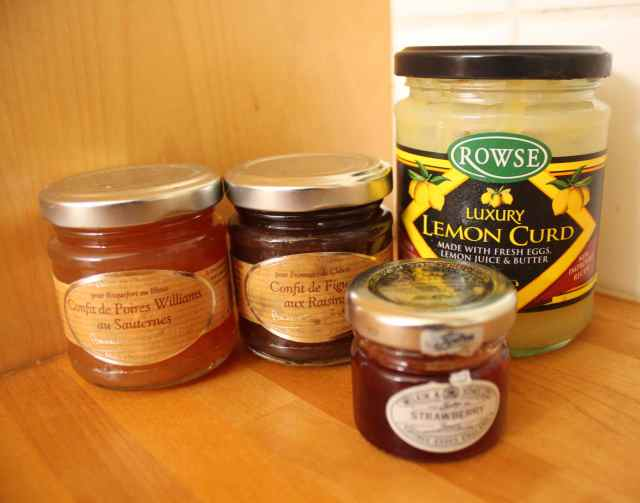 lemon curd and jam