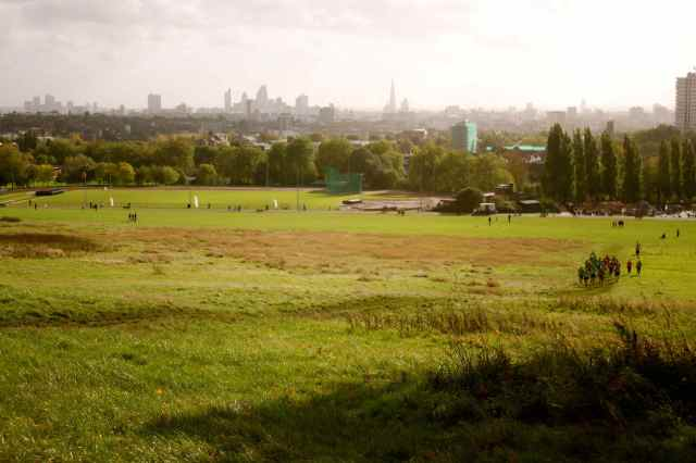 London from Hampstead heath