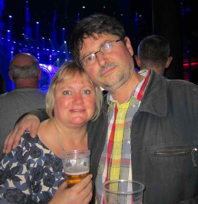 me and B at Boomtown Rats