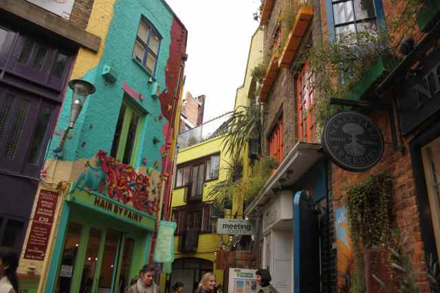 Neal's Yard colourful buildings