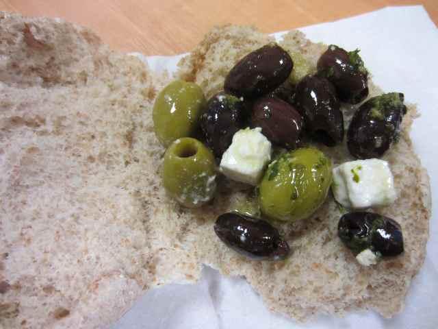 olive and feta bap 2