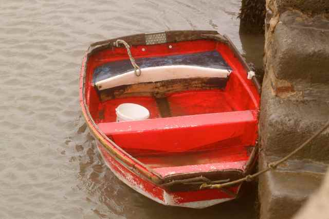 red boat at Lyme