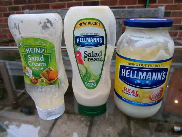 salad cream and mayo