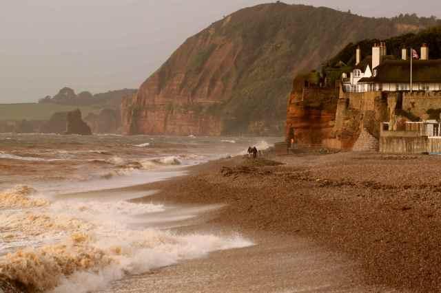 Sidmouth wild sea