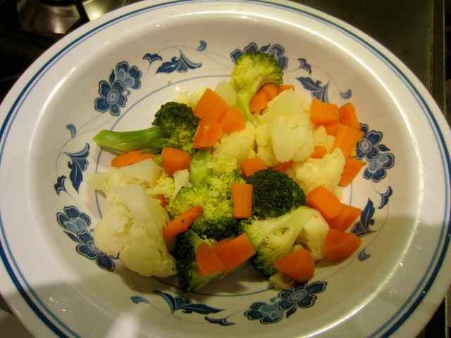 steamed veg