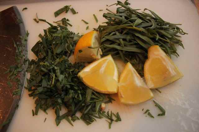 tarragon and lemon