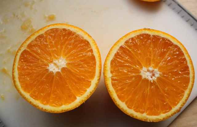 2 orange halves