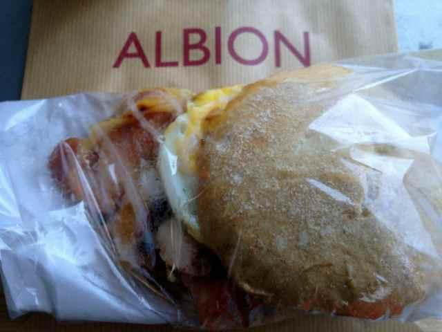 Albion breakfast bap 1