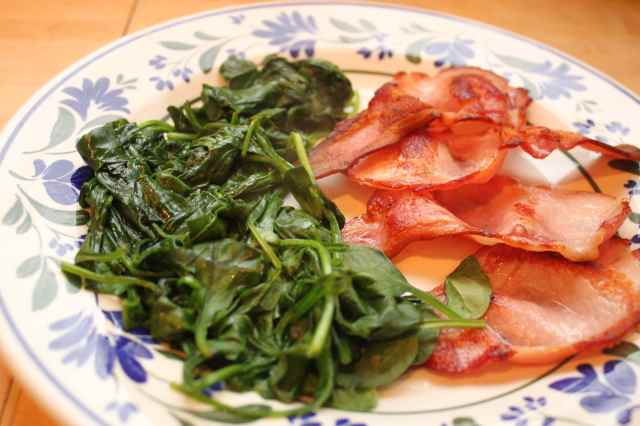 bacon and spinach