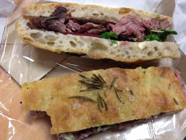 beef in Foccaccia