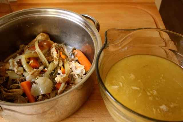 chicken stock a stock pot