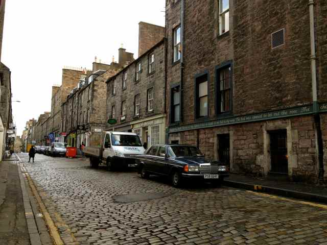 Cobbled Edinburgh Street