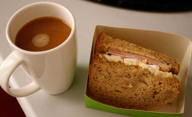 coffee and sandwich