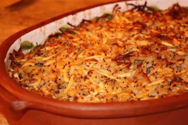 Cow Crumble in dish