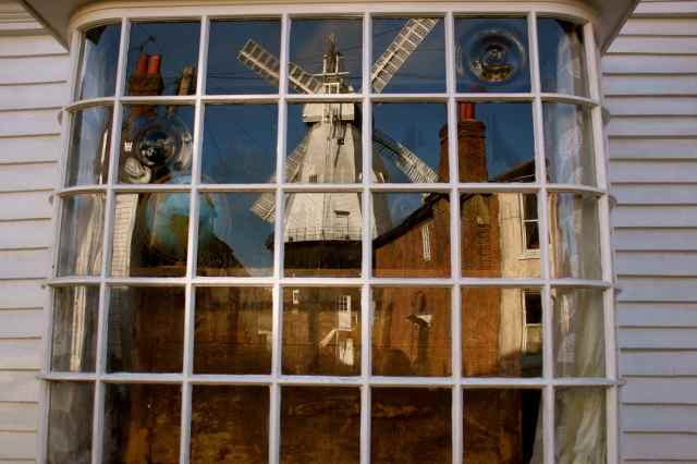 Cranbrrok Windmill in window