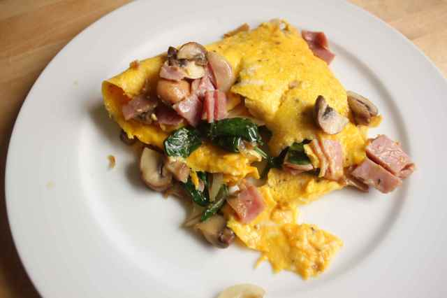 hom and veg omelette