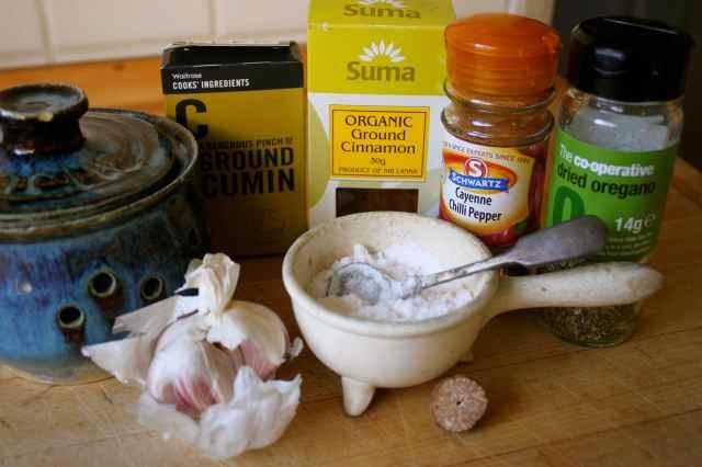 Home made Fajita mix ingredients