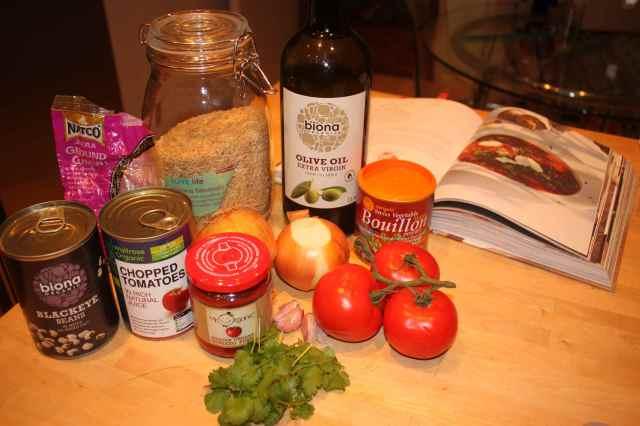 ingredients bean chilli