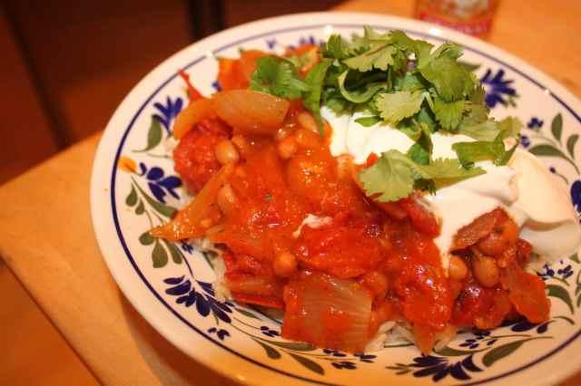 Mexican Baena and tomato chilli
