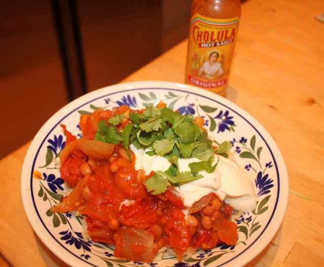 Mexican Bean and Tomato Chilli