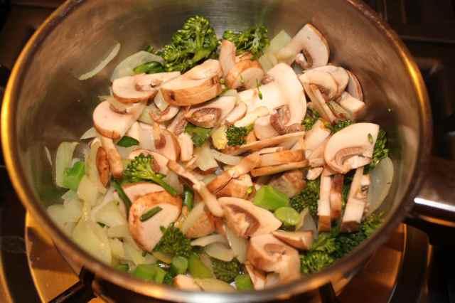 mushrooms in pan