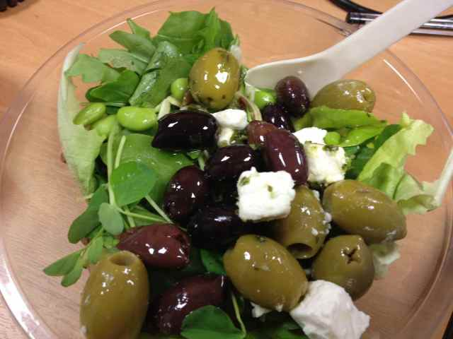 olives and salad