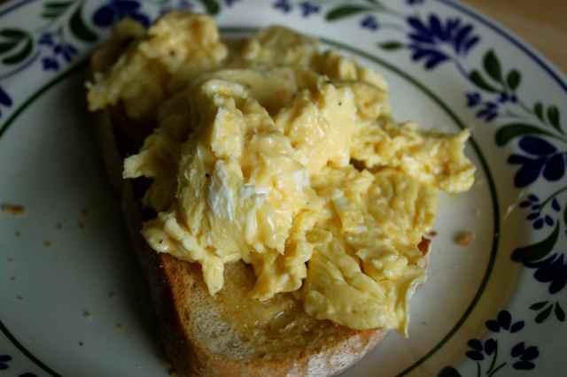 Scrambled egg on Sourdough toast