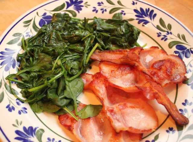 spinach and bacon 2