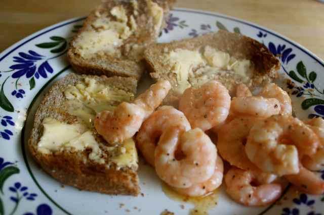 toast and prawns