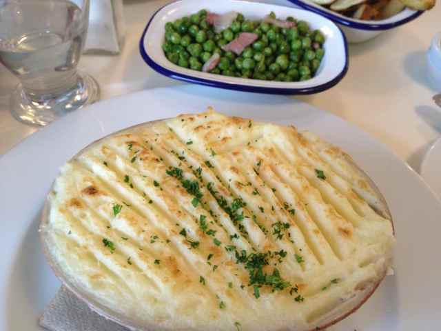 Albion fish pie and peas 2