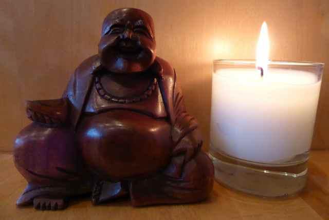 Buddha and candle